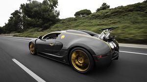 Превью обои bugatti, veyron, вид сбоку
