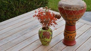 Превью обои букет, гербарий, ваза, декор
