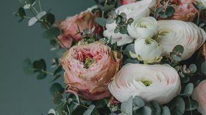 Превью обои букет, цветы, композиция, оформление