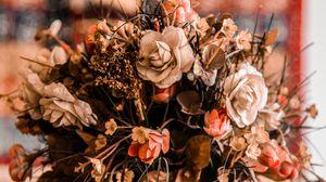 Превью обои букет, ваза, композиция, цветы, оформление