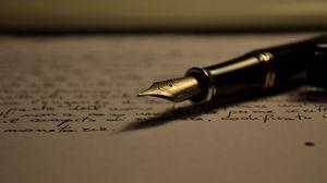 Превью обои бумага, лист, надписи, перо, почерк, ручка, текст