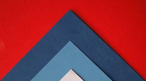 Превью обои бумага, разноцветный, треугольники, листы, наложение