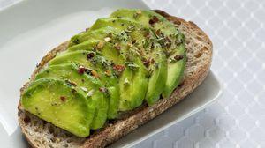 Превью обои бутерброд, авокадо, фрукт, зеленый