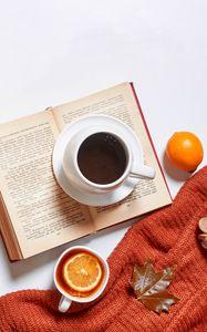 Превью обои чай, кофе, напитки, чашки, осень, эстетика
