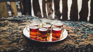 Превью обои чай, поднос, пар