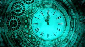 Превью обои часы, шестеренки, стимпанк, механизм