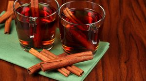 Превью обои чай, корица, трубочки, прозрачные