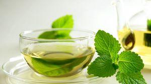 Превью обои чай, зеленый, листочки, мята