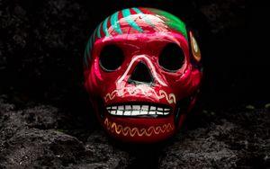Превью обои череп, арт, краска