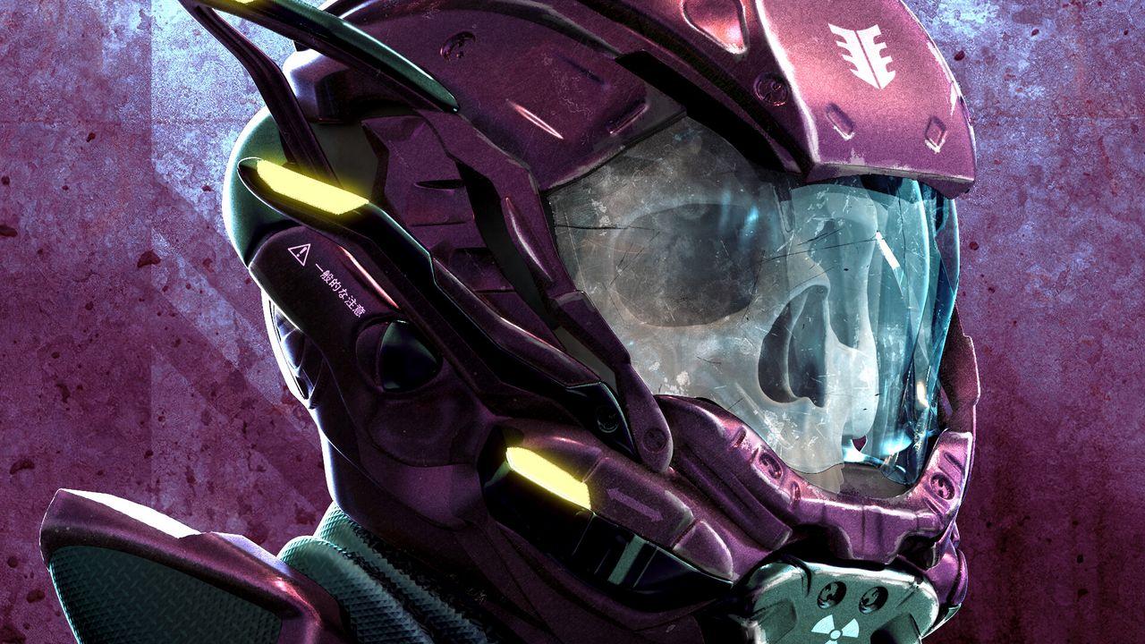Обои череп, шлем, арт, робот
