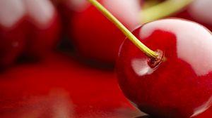 Превью обои черешня, ягода, красный, спелый