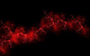 Превью обои черный фон, красный, цвет, краска, взрыв, всплеск