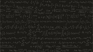 Превью обои черный, формулы, доска