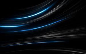 Превью обои черный, синий, абстракция, полосы
