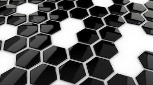 Превью обои черный, точки, белый, форма, поверхность