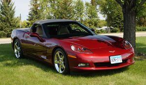 Превью обои chevrolet corvette, chevrolet, автомобиль, красный