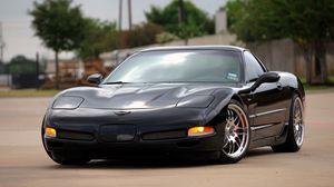 Превью обои chevrolet, corvette, z06, черный