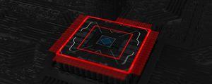 Превью обои чип, процессор, схема, 3d