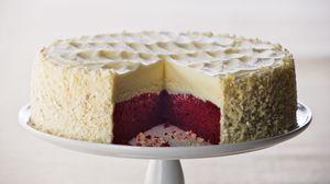 Превью обои чизкейк, сладкое, десерт, разрез, торт, слои