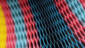 Превью обои цвет, ячейки, голубой, розовый, жёлтый