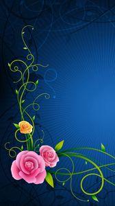 Превью обои цветы, линии, узоры