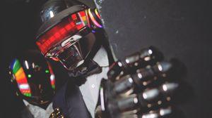 Превью обои daft punk, шлем, человек, музыка