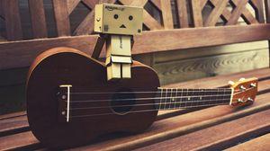 Превью обои danboard, гитара, сидеть, настроение