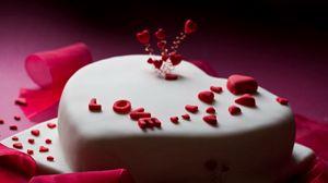Превью обои день святого валентина, день влюбленных, торт, подарок, признание