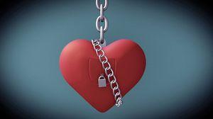 Превью обои день святого валентина, день всех влюбленных, сердце, любовь, замок, цепь