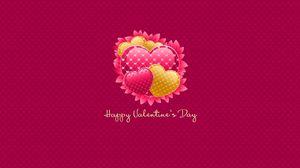 Превью обои день святого валентина, надпись, поздравление, сердечки, розовый фон