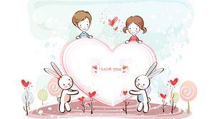 Превью обои день святого валентина, сердечко, признание, любовь