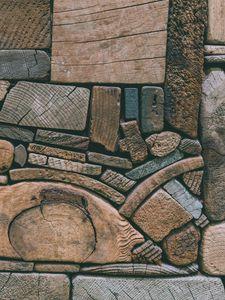 Превью обои деревянный, текстура, бруски