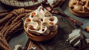 Превью обои десерт, печенье, крем, сладкий, кулинария