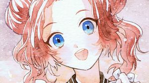 Превью обои девушка, улыбка, акварель, аниме, арт