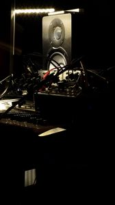 Превью обои диджейский пуль, колонки, музыка, музыкальное оборудование