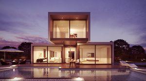 Превью обои дизайн, интерьер, бассейн, современный