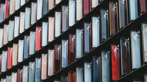 Превью обои дизайн, панели, разноцветный, стеклянный, симметрия