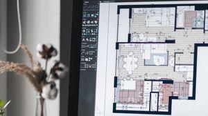 Превью обои дизайн интерьера, macbook, телефон