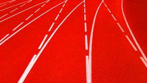 Превью обои дорожка, покрытие, полосы, разметка, красный