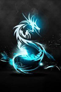 Превью обои дракон, классика, свет, блеск, поверхность, фон