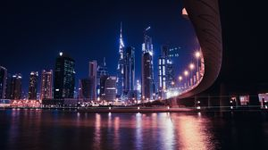 Превью обои дубай, объединенные арабские эмираты, небоскребы