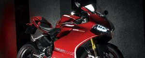 Превью обои ducati, 1199, ducati 1199 panigale, мотоцикл, красный