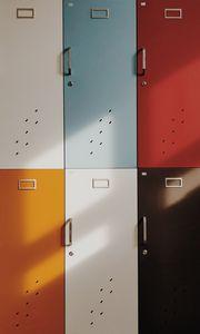 Превью обои двери, шкафчики, ретро, разноцветный