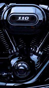Превью обои двигатель, harley davidson, мотоцикл, байк, мотор, детали