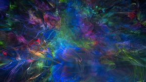 Превью обои дым, изгибы, разноцветный, абстракция