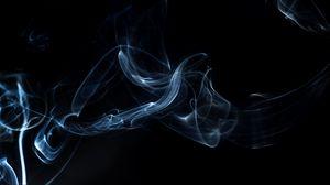 Превью обои дым, пелена, форма, темный фон
