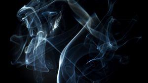 Превью обои дым, пелена, темный фон, линии