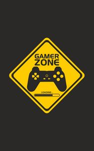 Превью обои джойстик, контроллер, gamer zone, игрок