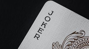 Превью обои джокер, слово, надпись, игральная карта