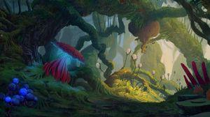 Превью обои джунгли, иноземный, фантастический, существа
